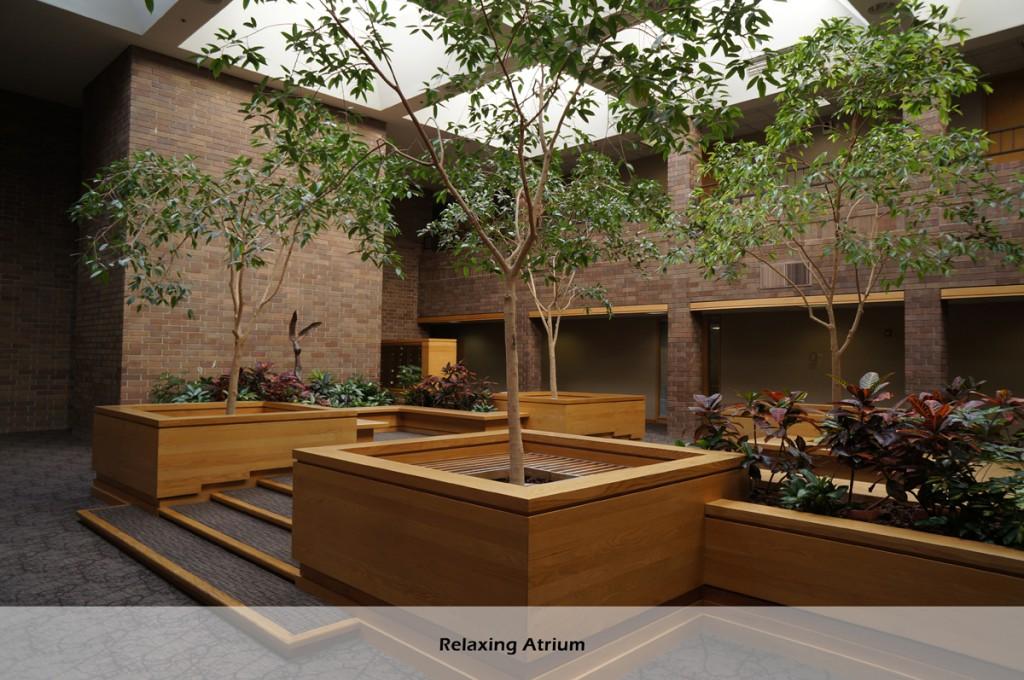 Relaxing atrium